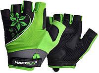 Велорукавички PowerPlay 5281 A Зелені XS, фото 1