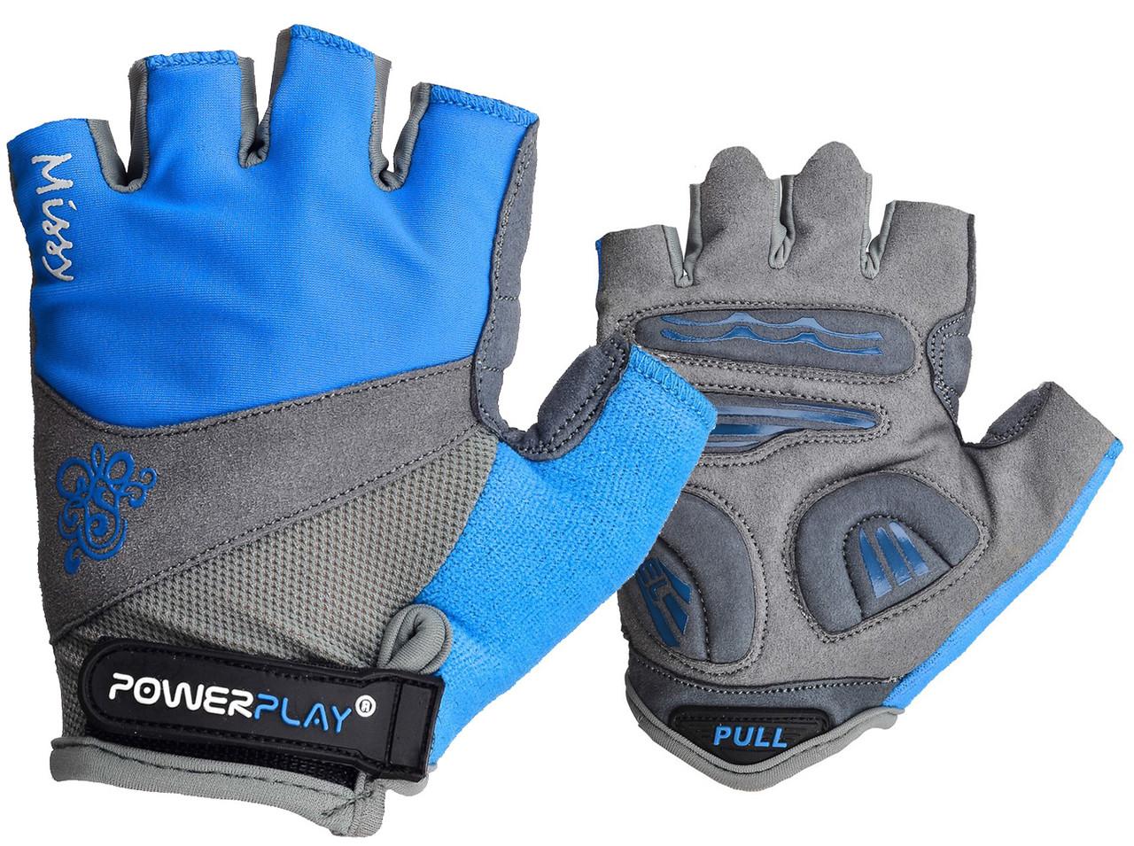 Велорукавички PowerPlay 5277 В Блакитні S