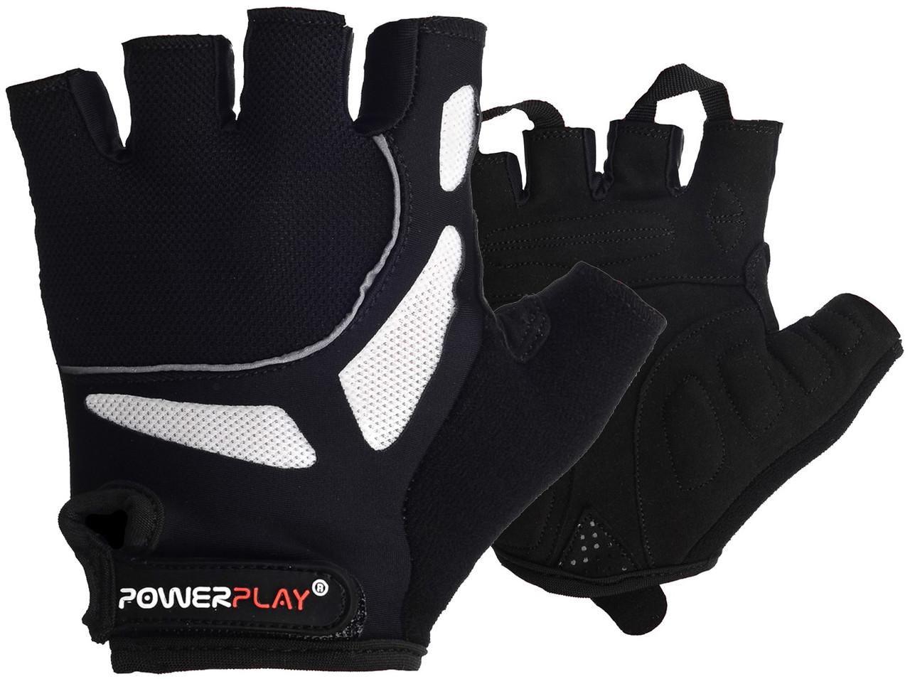 Велорукавички PowerPlay 5087 Чорні M