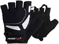 Велорукавички PowerPlay 5087 Чорні M, фото 1