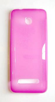 Чехол для Nokia 206 силиконовый розовый