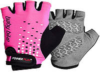 Велорукавички PowerPlay 5451 C Рожеві 3XS, фото 1