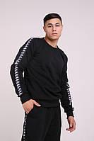 Толстовка худи свитшот утеплённый чёрный с лампасами Nike