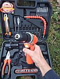 Набор слесарного инструмента / инструмент для дома + Шуруповерт 37пр, фото 8