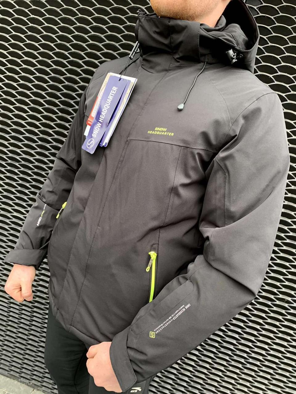 Чоловіча гірськолижна куртка Snow Headqurarter чорний