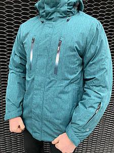 Чоловіча гірськолижна куртка Snow Headqurarter морська хвиля M, XL