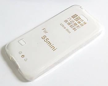 Чехол для Samsung Galaxy S5 mini g800h силиконовый ультратонкий прозрачный