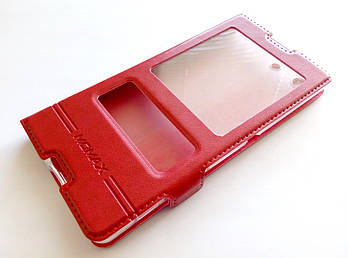 Чехол книжка с окошками momax для Sony Xperia M5 e5633 красный