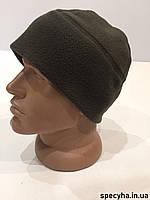 """Зимняя флисовая шапка """"Хаки"""" для военных"""