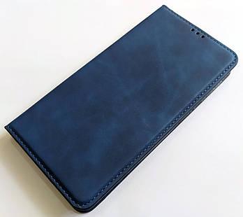 Чехол книжка Leather Book для Xiaomi Mi Note 10 Синий