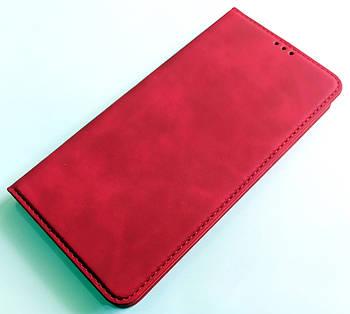 Чехол книжка Leather Book для Xiaomi Mi Note 10 Красный