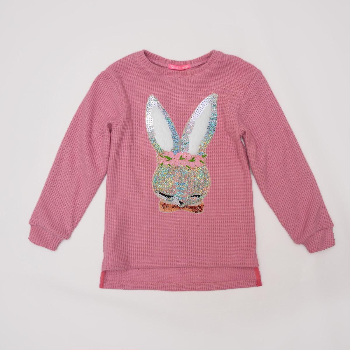 Свитер детский р.104,110,116,122 вязаный SmileTime Shiny Bunny, розовый
