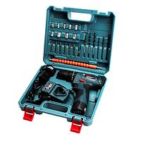 Шуруповерт ударный Bosch TSR12-2LI 12В 3Ач с набором бит, свёрл, головок, гибкий вал (TSR-12-2LI-2)