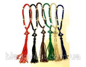 Четки плетённые Подарочные 50 узелков вставка метал