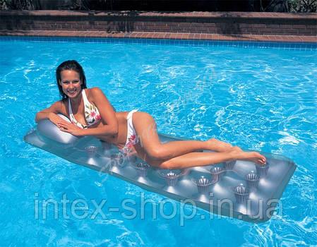 Надувной пляжный матрас для плавания Intex 58894 прозрачный КИЕВ, фото 2