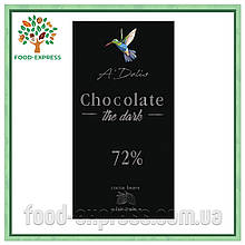 Шоколад Choсolate чорний 72%, 90г