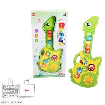 Дитяча іграшкова музична гітара для малюків, зі звуками тварин арт.CY-7034B