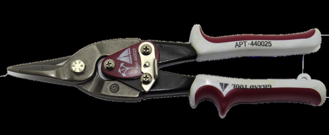 Ножницы прямые 250мм, по металлу, Grandtool