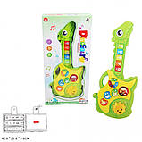 Дитяча іграшкова музична гітара для малюків, зі звуками тварин арт.CY-7034B, фото 3