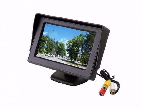 Автомонитор LCD 4.3'' для двух камер 043 | монитор автомобильный для камеры заднего вида, дисплей, авто экран