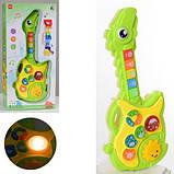 Дитяча іграшкова музична гітара для малюків, зі звуками тварин арт.CY-7034B, фото 2