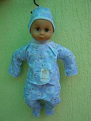Комплект для новорожденных (чепчик, распашонка, ползунки)