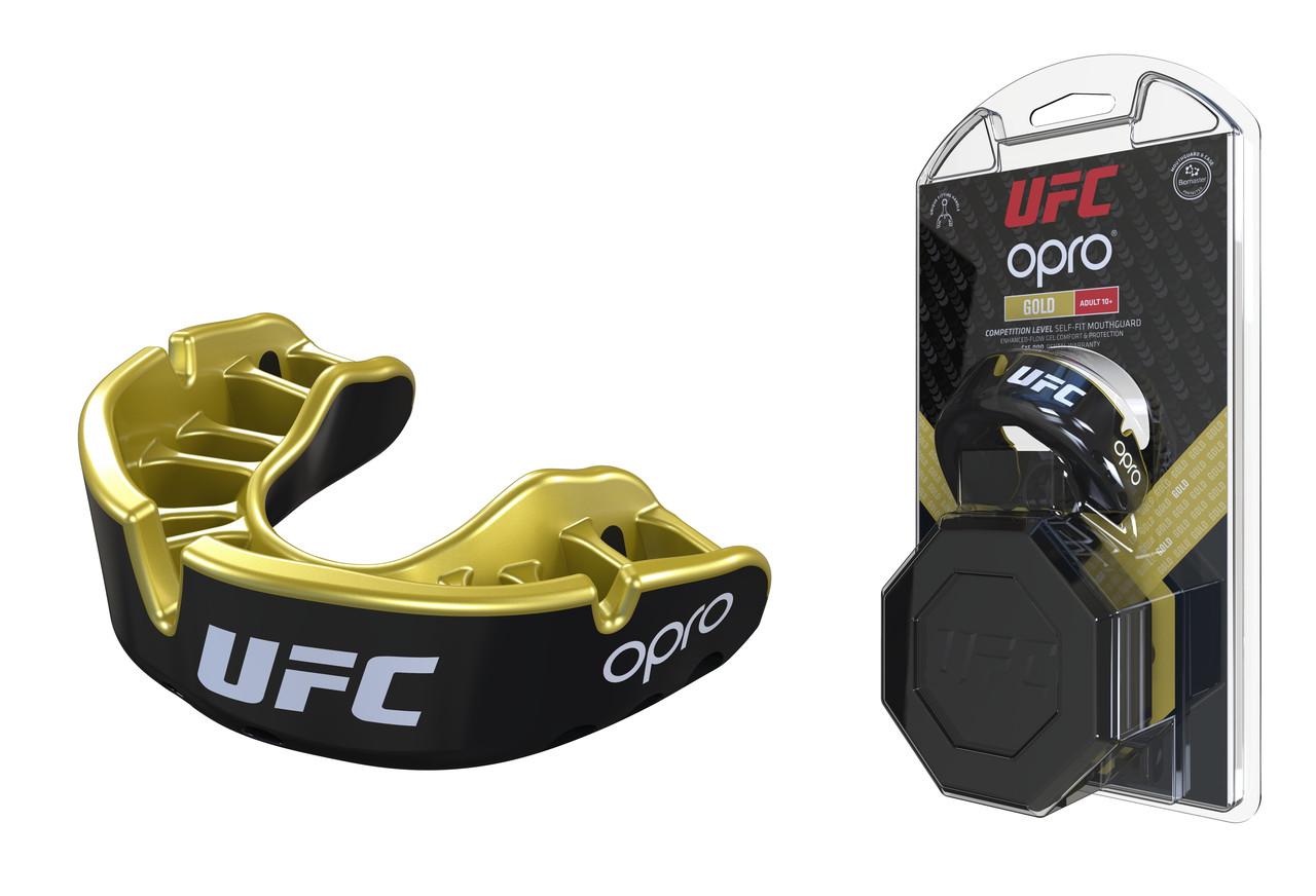 Капа OPRO Gold UFC Hologram Black Metal/Gold (art.002260001)