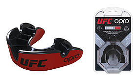 Капа OPRO Silver UFC Hologram Red/Black (art.002259001)