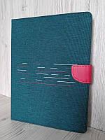 """Универсальный чехол-книжка для планшета 10 дюймов (10"""") Jeans 360 зеленый"""