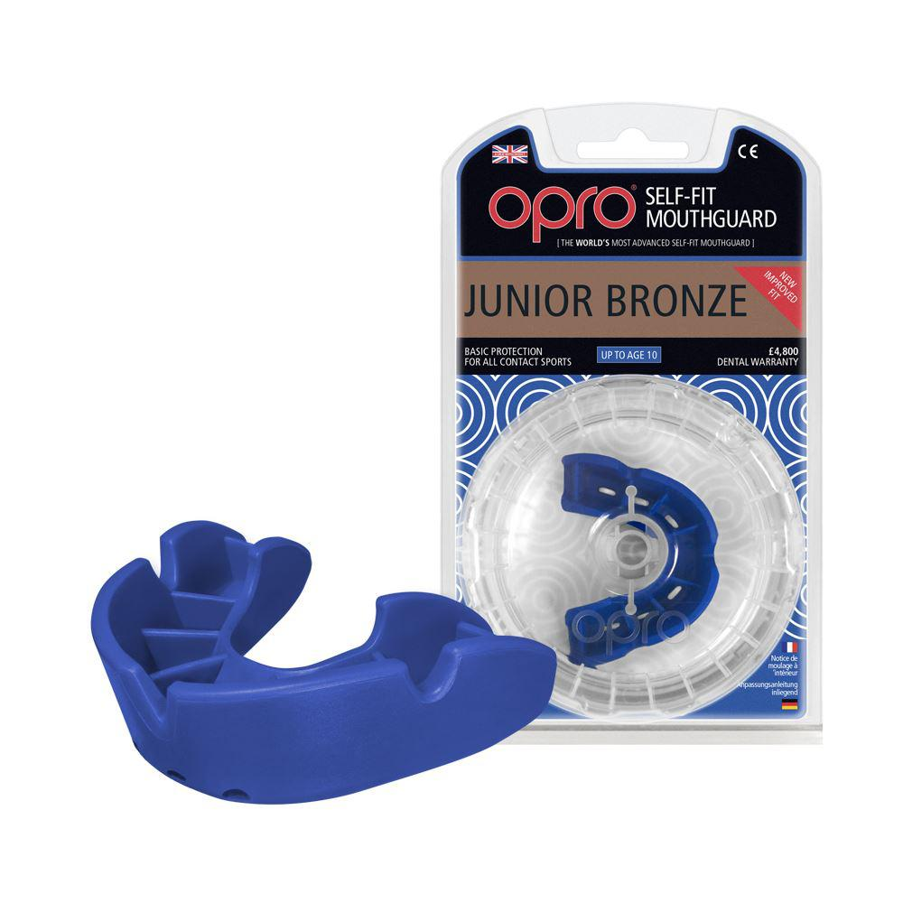 Капа OPRO Junior Bronze Blue (art.002185002)