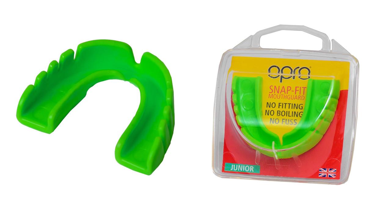 Капа OPRO Junior Snap-Fit Neon Green (art.002143003)