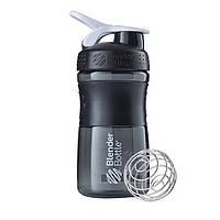 Спортивная бутылка-шейкер BlenderBottle SportMixer 590ml Black/White (ORIGINAL)