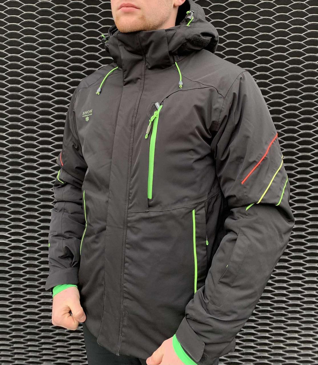 Чоловіча гірськолижна куртка Snow Headqurarter чорна L\XL