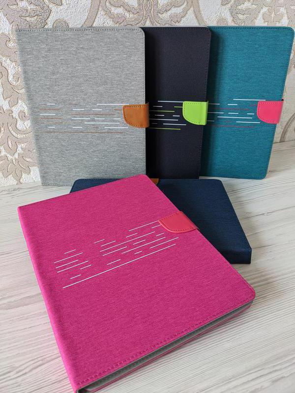 """Универсальный чехол-книжка для планшета 10 дюймов (10"""") Jeans 360 малиновый"""