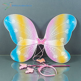 Карнавальні крила метелика жовтий