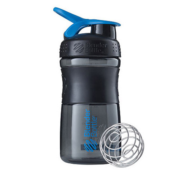Спортивна пляшка-шейкер BlenderBottle SportMixer 590ml Black/Cyan (ORIGINAL)