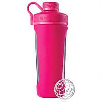 Спортивная бутылка-шейкер BlenderBottle Radian Glass Pink (скло ) 820мл (ORIGINAL), фото 1