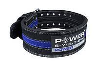 Пояс для пауэрлифтинга Power System Power Lifting PS-3800 XL Black/Blue, фото 1