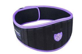 Пояс неопреновый для тяжелой атлетики Power System Woman's Power PS-3210 XS Purple