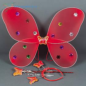 Карнавальні крила метелика червоний