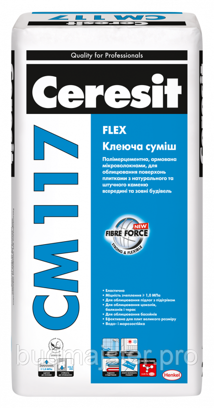 Клеюча суміш Ceresit CM 117 Flex 25кг