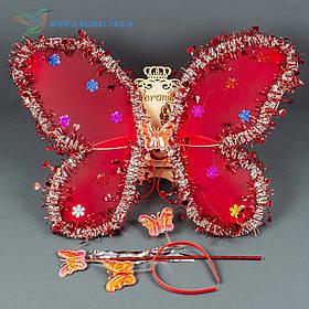 Набір карнавальний крила метелика червоний