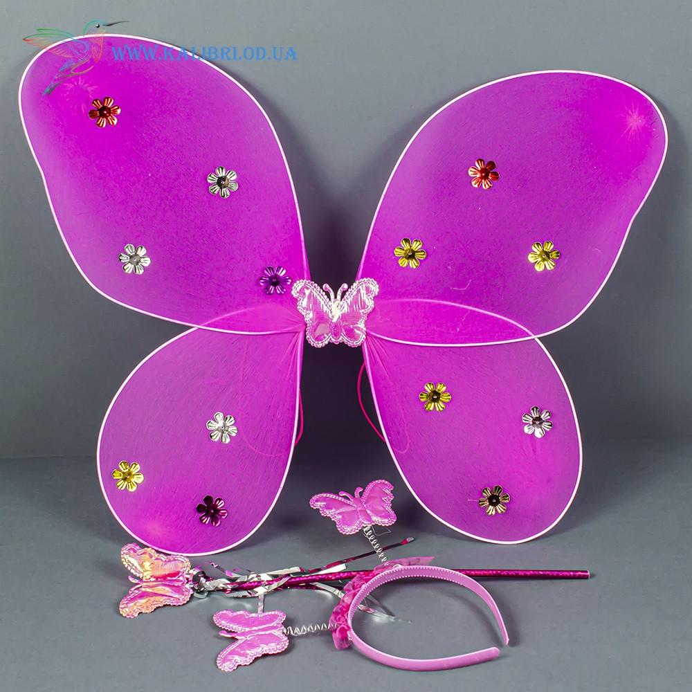 Карнавальные крылья бабочки малиновые