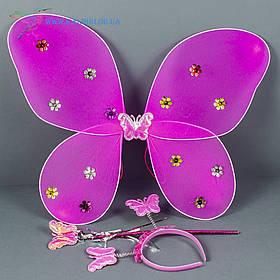 Карнавальні крила метелика малинові