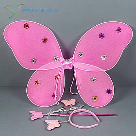 Карнавальні крила метелика рожеві