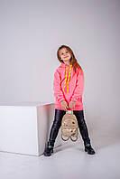 Кофта (худи) для девочки утепленное р.128,134,140,146,152,158 SmileTime Juicy, розовый неон, фото 1