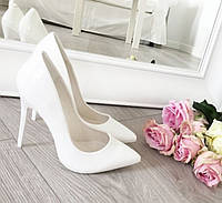 Туфлі жіночі класичні білі,весільні