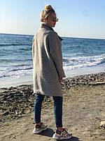 Тёплое пальто женское демисезонное букле барашек свободного кроя 5 цветов. Меланж