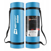 Коврик мат для фитнеса и йоги HS-N010GM 1 см light blue, фото 2
