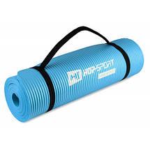 Коврик мат для фитнеса и йоги HS-N010GM 1 см light blue, фото 3